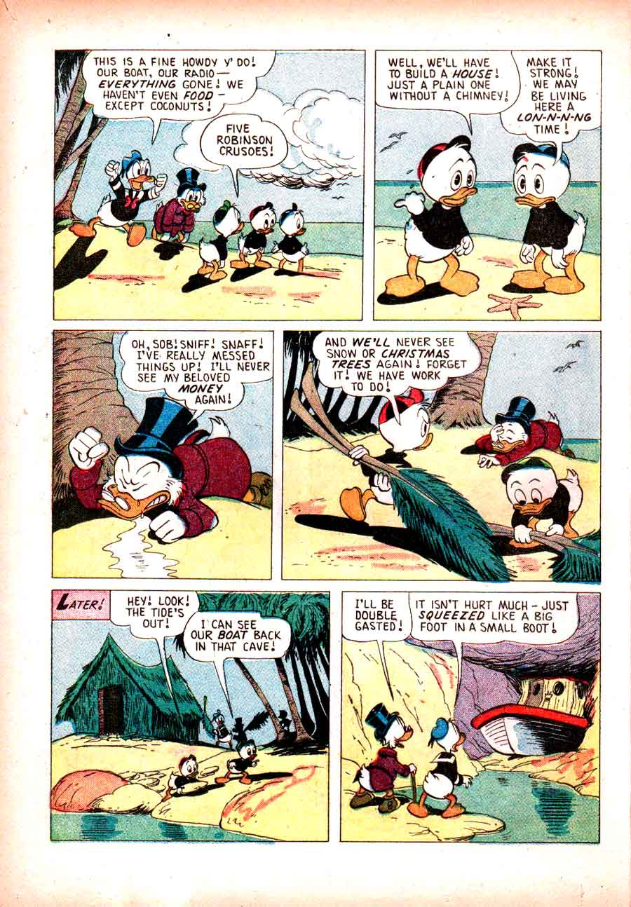 Christmas in Disneyland v1 #1 -  golden age Carl Barks disney dell comic book page art