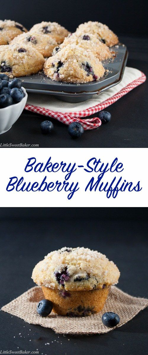 BLUEBERRY STREUSEL MUFFINS – BAKERY STYLE