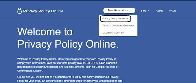 Privacy policy genarator