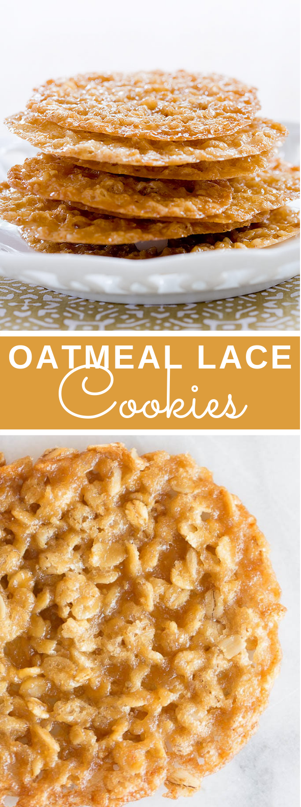 Oatmeal Lace Cookies #desserts #easy