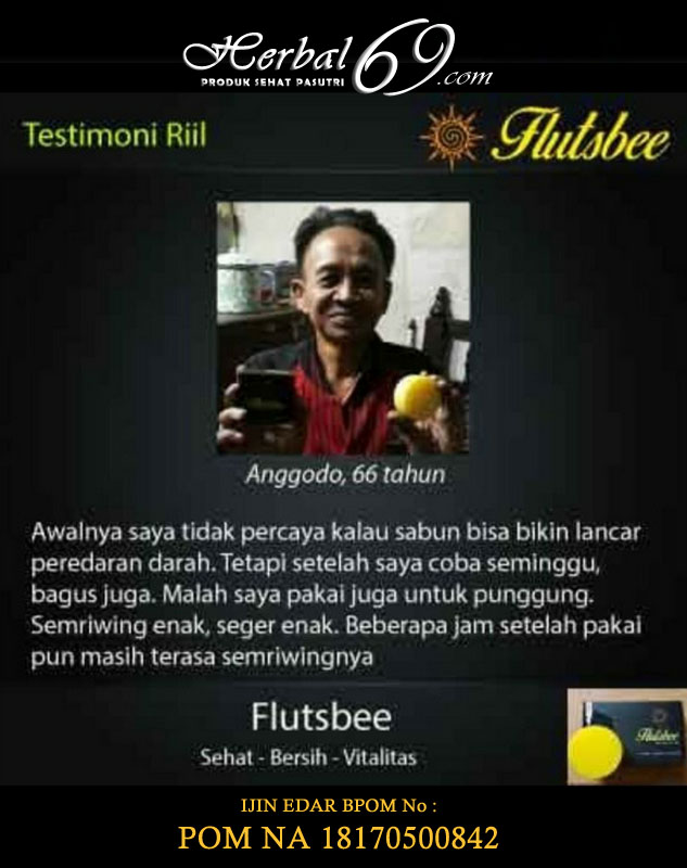 Testimoni Sabun Flutsbee | Sabun Hebal Pria Tahan Lama