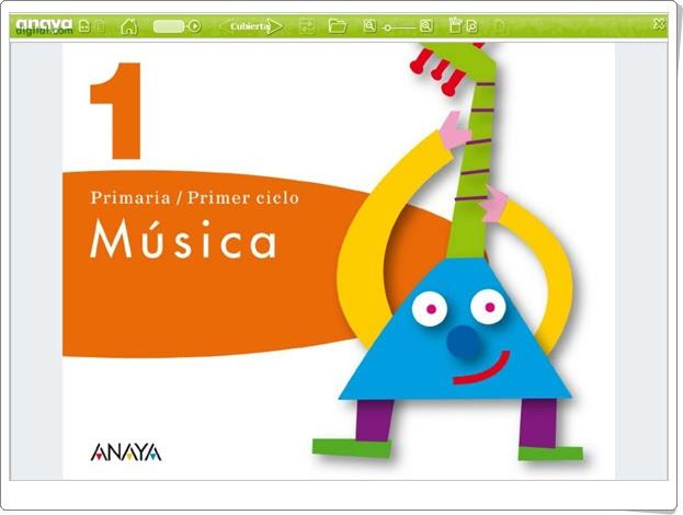 """""""Libro digital de 1º de Música de Primaria. Editorial Anaya."""""""
