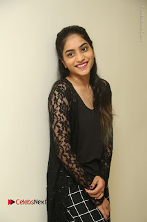 Actress Punarnavi Bhupalam Stills in Black Dress at Pittagoda Press Meet  0062.JPG