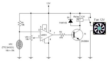Electronic Circuit Schematic Automatic Fun Controller