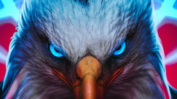 Eagle, Eyes, Digital Art, Animals, 4K, #4.1972
