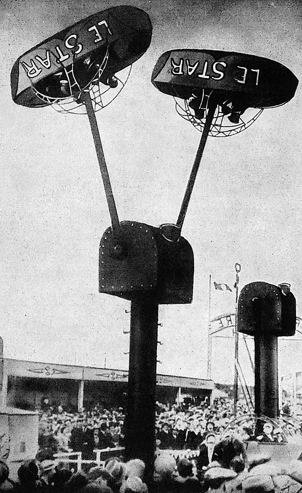 """the 1937 Paris Expo Internationale amusement ride """"Le Star"""", a photograph"""