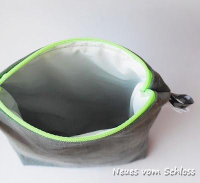 Duschgeltasche, upcycling- neuesvomschloss.blogspot.de