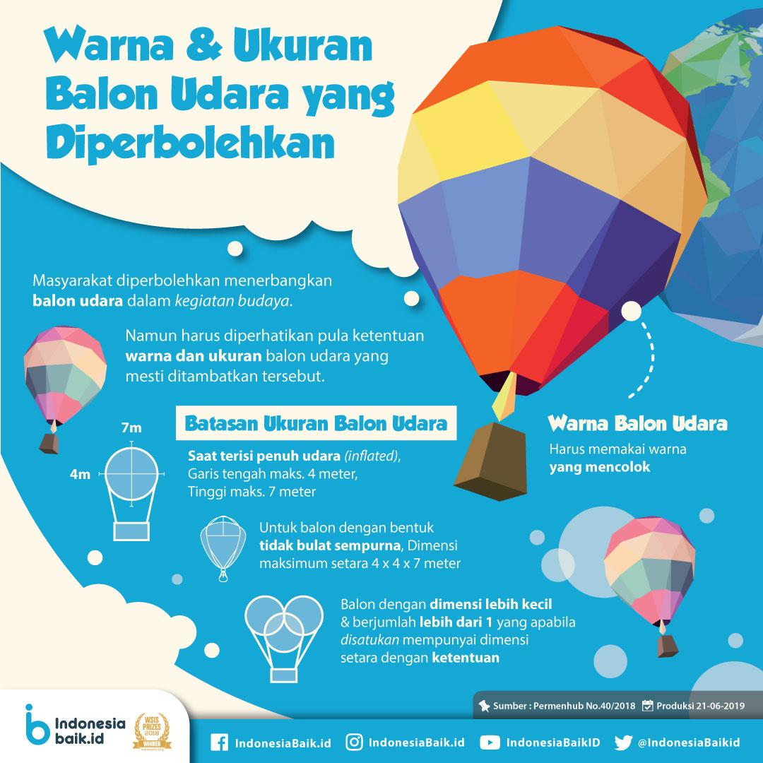 Warna dan Ukuran Balon Udara yang Diperbolehkan