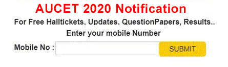 AUCET 2020 Notification