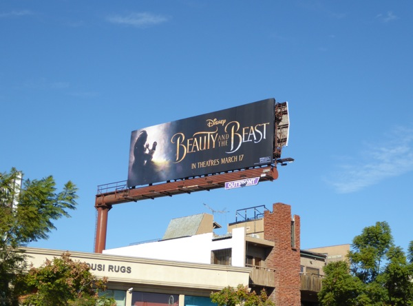 Disney Beauty and Beast 2017 movie billboard