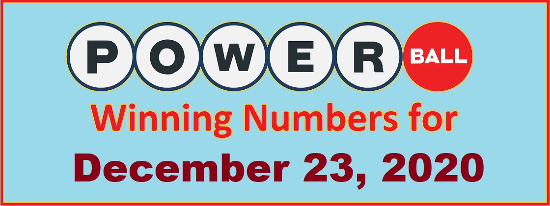 Powerball Winning Numbers For Wednesday December 23 2020