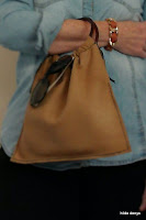 Lovelea's leather city bag with denim outfit