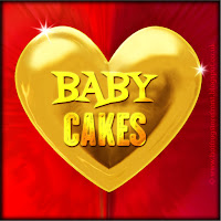 'Baby cakes' text on gold heart free image for texting