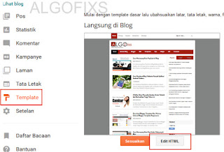 Cara Merubah/Mengedit Menu Navigasi di Template Blog Hasil Download