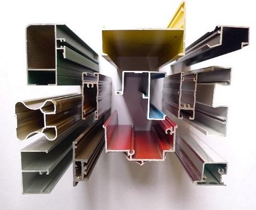 Profil penampang potongan kusen aluminium