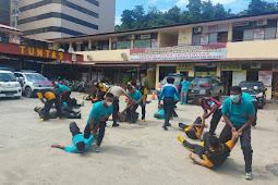 Usulan Kenaikan Pangkat, Polresta Jayapura Kota Gelar Ujian Beladiri Polri