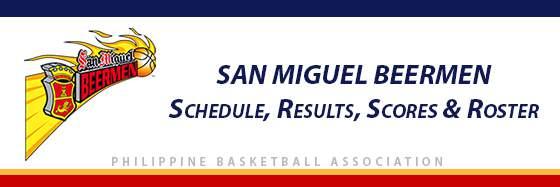 PBA: San Miguel Beermen Schedule, Results, Scores, Roster