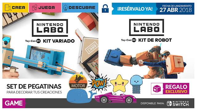 Consigue pegatinas de decoración para Nintendo LABO con GAME