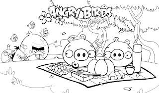 Muitos Desenhos De Angry Birds Para Pintar Colorir Imprimir