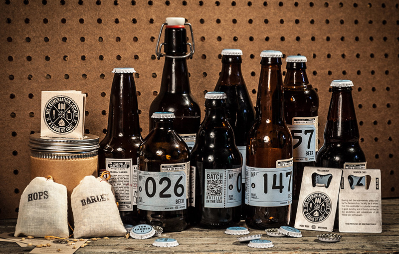 The Fermentation Society WORK Labs beer packaging