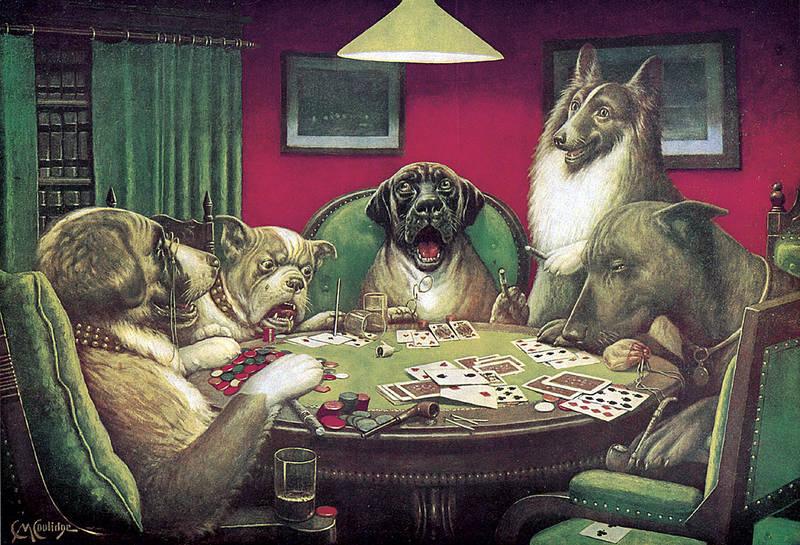 La Serie Completa De Cuadros Perros Jugando A Póker Y 13