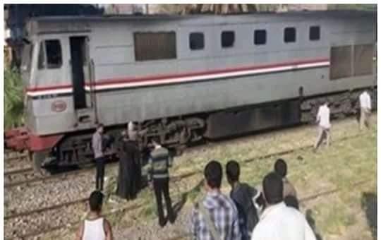 أصابة مجند سقط من قطار القاهرة أسوان أمام بنى سويف