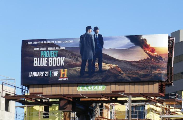 Project Blue Book season 2 extension billboard