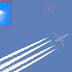 Aparece um ovni ao lado de um avião em pleno voou