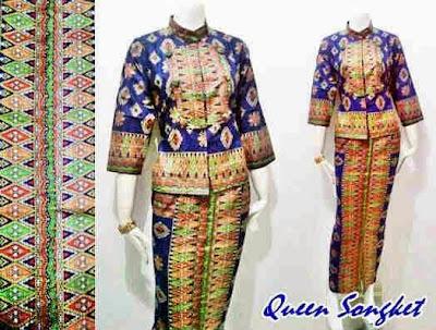 Model Pakaian Batik Songket Elegan Terbaru