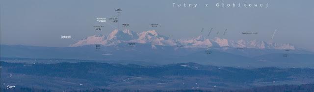 Tatry z wieży w Głobikowej