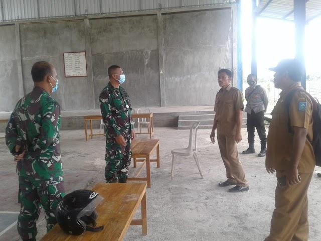 Kasrem 162/wirabakti  Kol. Arm, I I.MadeKariawan berkunjung ke Manggelewa dan Kempo .
