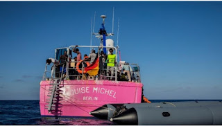 Banksy  rescue funded boat picks more than 49 vulnerable people in the Mediterranean Sea