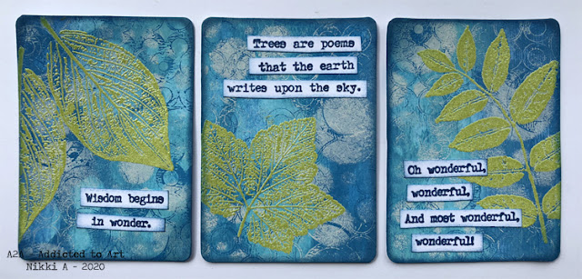 ATCs with PaperArtsy Stamps by Lin Brown and Alison Bomber