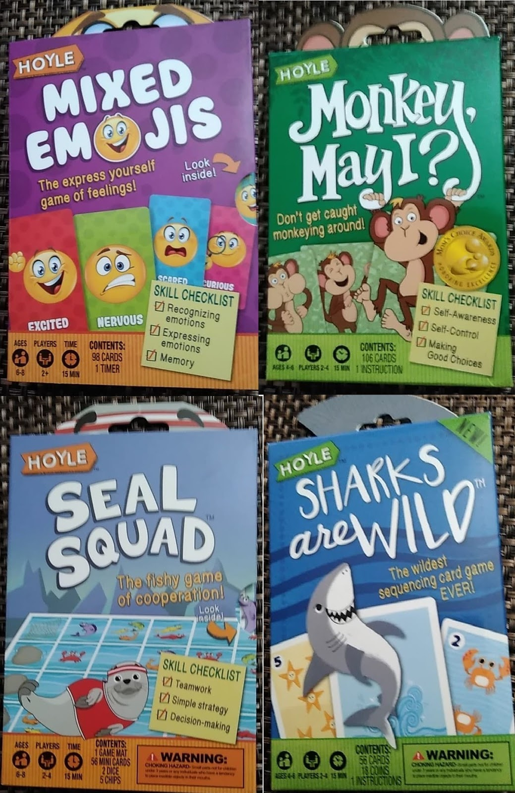 Westman Reviews: New Giveaway for 4 Card Games for Kids from