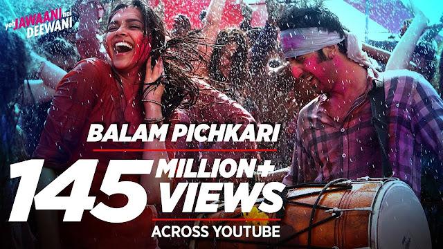 बालम पिचकारी Balam Pichkari || Holi Lyrics Song || Yeh Jawaani Hai Deewani