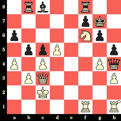 Les Blancs jouent et matent en 4 coups - Khelil Lagha vs Georgios Trikaliotis, Lugano, 1968