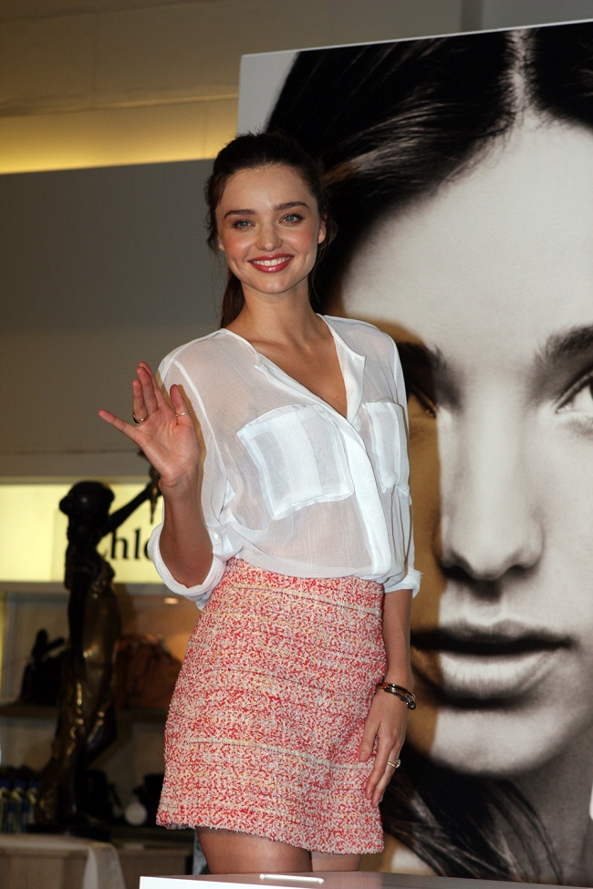 Miranda Kerr looked stunning as she promoted her KORA organic skincare line in Sydney