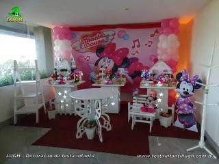 Decoração de aniversário Minnie rosa