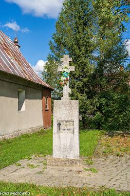Regietów Niżny: kapliczka z 1988 r. na 1000-lecie chrztu Rusi