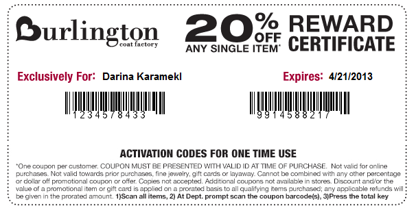 About Burlington Coat Factory. Don't let the name mislead you. Burlington carries so much more than just coats. And our Burlington Coat Factory coupons can .