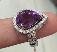 Jual Cincin Berlian Batu Kecubung Pangkalanbun