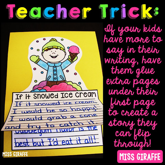 Super cute ideas for differentiating writing in first grade