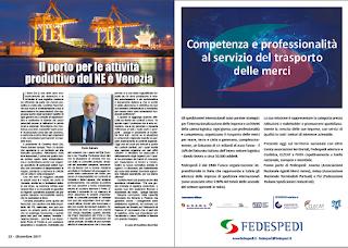 DICEMBRE 2019 PAG. 22 - Il porto per le attività produttive del NE è Venezia