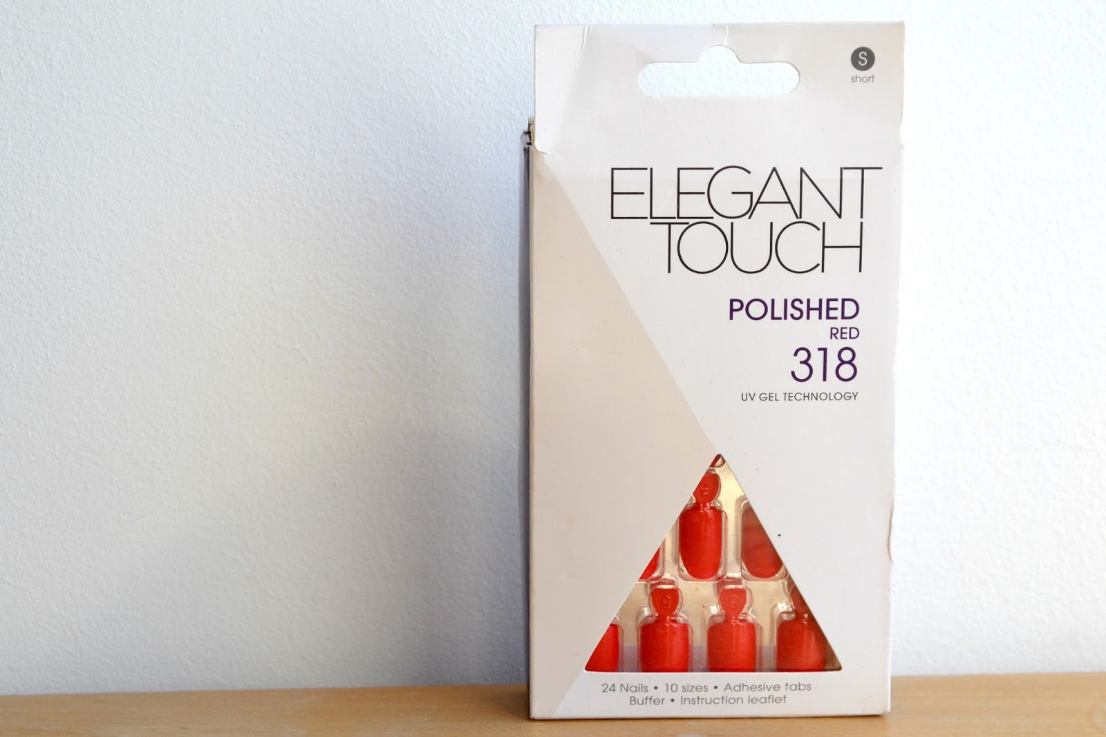 Elegant Touch Polished False Nails in Red box