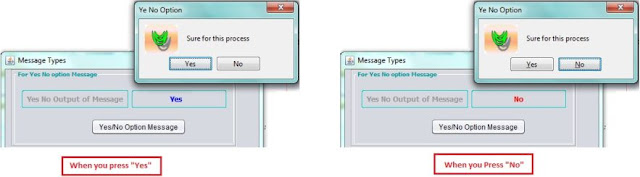 YesNoOption Msg Box in Netbeans