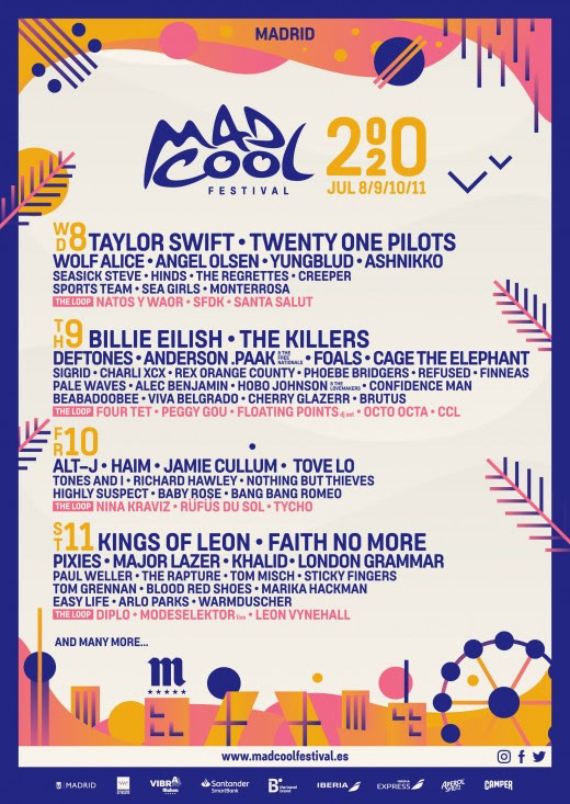 Mad Cool Festival 2020 line up