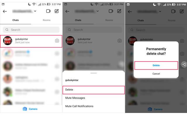 Cara Menghapus DM Instagram Dari Satu Akun Tertentu