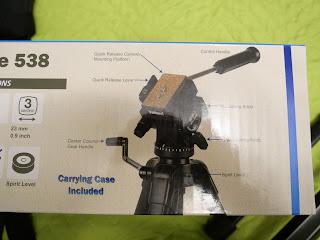 Videomate 638 tripod specs