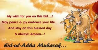 eid ul adha wishes sms english