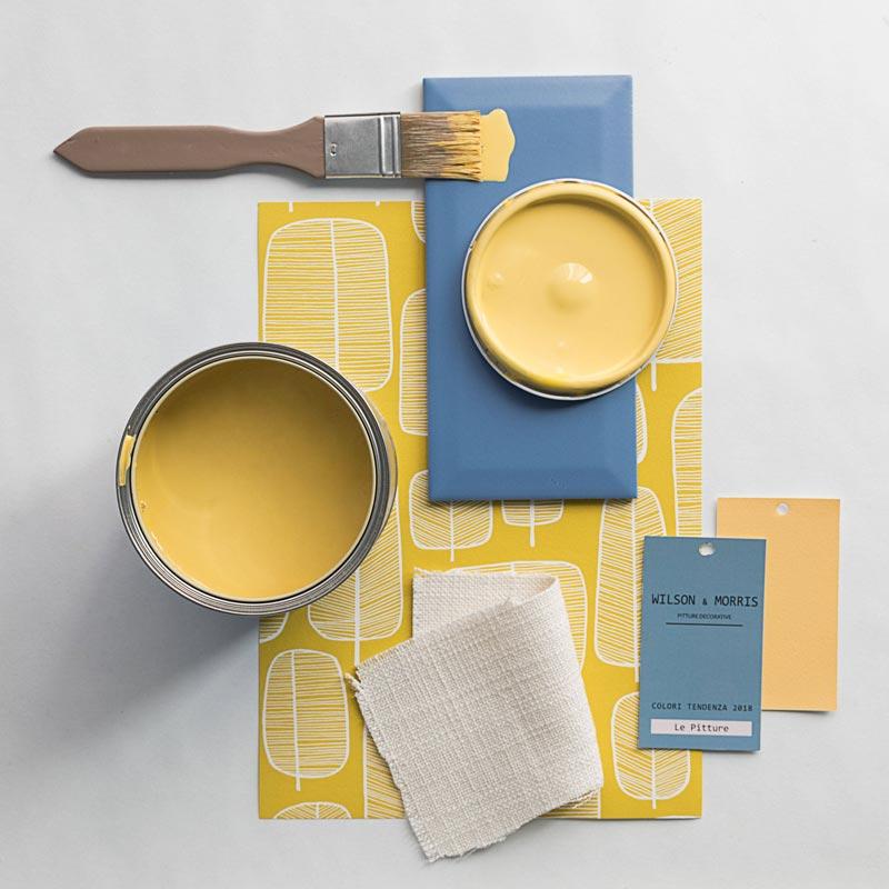 la nuova palette cromatica 2018 Wilson & Morris